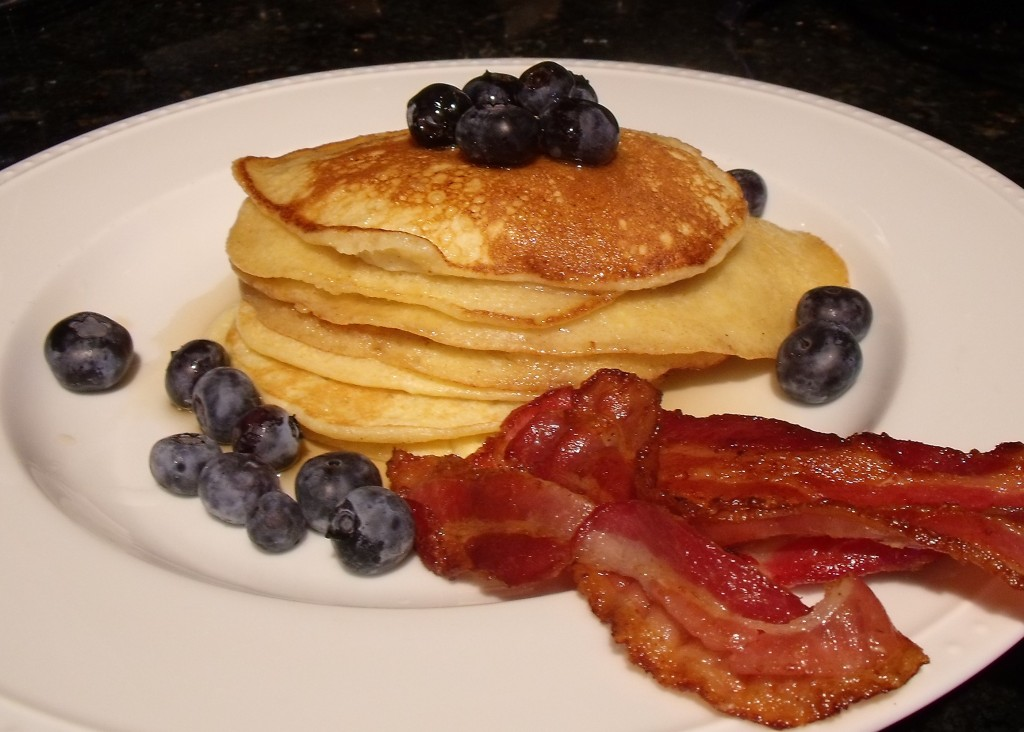 Pancakes And Bacon Cake Slices With Maple Buttercream ...